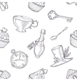 Hand drawn wonderland seamless pattern vector image