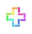 cross abstract geometric logo vector image