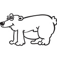 black and white bear vector image
