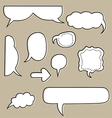 sketchy bubbles speech vector image