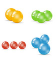 a set of colorful sugar-coated tablets vector image vector image
