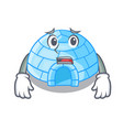 afraid igloo ice house isolated on mascot vector image vector image