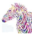 Animal watercolor silhouette zebra vector image vector image