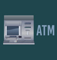 atm automated teller machine bank cash realistic vector image