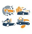 audio car system logo template set music speaker