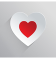 Beautiful Flat Heart Icon vector image vector image