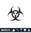 biohazard icon flat vector image vector image