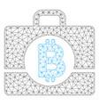 bitcoin accounting case mesh network model vector image vector image