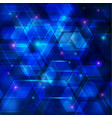 blue abstract techno background vector image vector image
