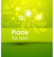 bright green floral background with text space vector image vector image