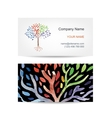 Business card template design Art tree vector image vector image