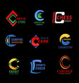 business design c icons vector image vector image