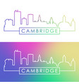 cambridge skyline colorful linear style editable vector image vector image