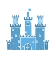 Cartoon castle isolated blue vector image vector image