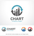 chart logo template design vector image