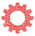 cog composition of first aid kit icons vector image vector image