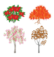 Colorful Isometric Set of Trees and Plants vector image vector image