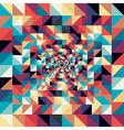 Colorful retro abstract visual effect seamless vector image vector image