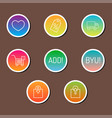 colorful website online shop web buttons design vector image vector image