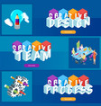 creative design banners set vector image