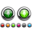 Drawing-pin button vector image vector image
