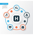 drug icons set collection of hospital painkiller vector image vector image
