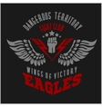 Eagle wings - military label badges and design vector image vector image
