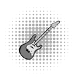 Electric guitar comics icon vector image vector image