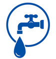 faucet with water drop vector image vector image