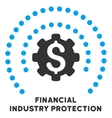Financial Industry Protection Icon With vector image vector image