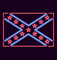 flag confederate states of america neon sign vector image