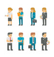 flat design business staffs vector image vector image