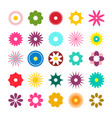 flat design flowers icons simple flowers set vector image vector image