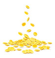 gold coins heap vector image