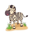Hand drawn of Zebra vector image vector image