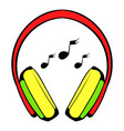 headphone icon icon cartoon vector image vector image