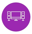 Home cinema system line icon vector image