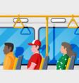 interior bus salon public city transport vector image