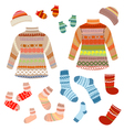 knitted clothing vector image vector image