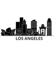 los angeles architecture city skyline vector image vector image