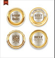 luxury sale golden labels collection 3 vector image vector image