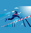 manager race jumping over obstacles vector image
