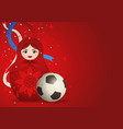 matryoshka doll with soccer ball vector image