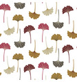 modern seamless pattern with ginkgo leaves autumn vector image