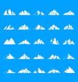 mountain icons set simple style vector image vector image