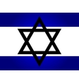 National flag of Israel vector image vector image