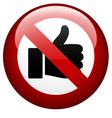 no gesture mark vector image vector image