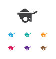 of building symbol on pushcart vector image
