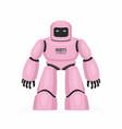 pink robot vector image vector image