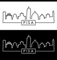 pisa skyline linear style editable file vector image vector image